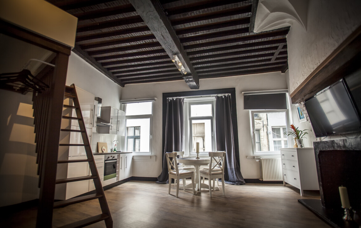 A studio apartment with two floors in Antwerp