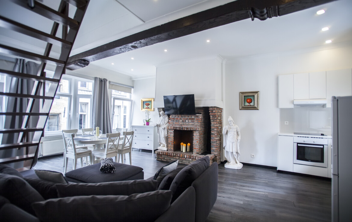 Spacious apartment with three floors in Antwerp