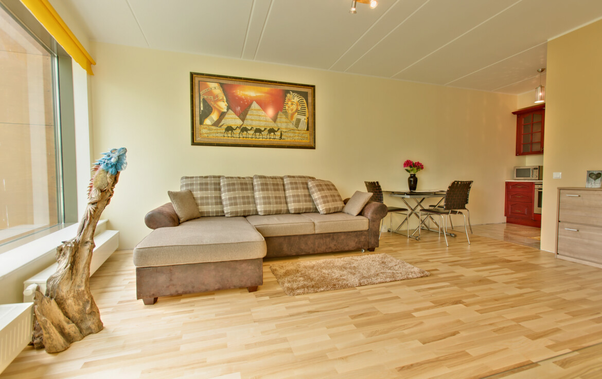 Two bedroom apartment with bath and terrace in the center of Tallinn, next to the harbor.