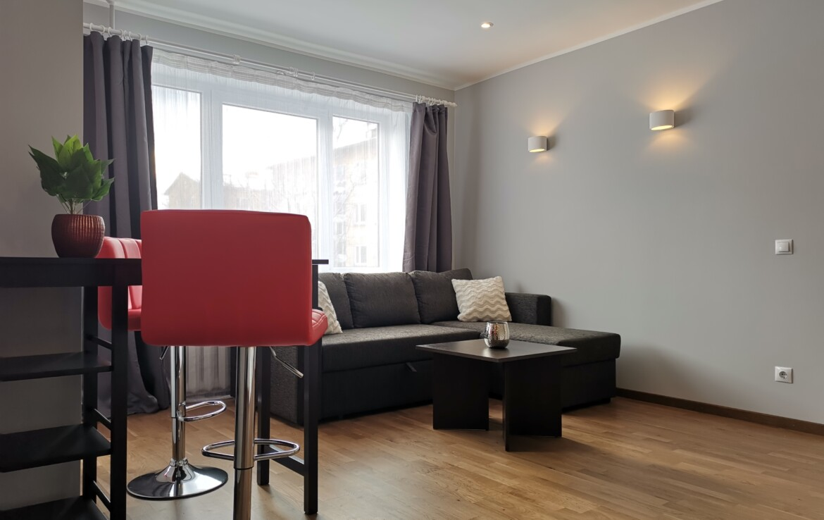 A modern one bedroom apartment in the heart of Mustamäe.